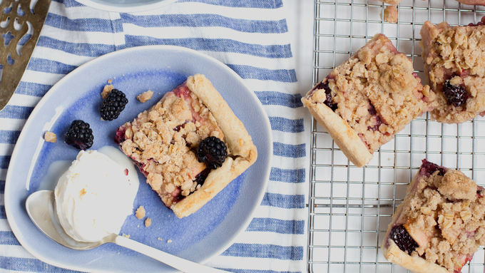 Blackberry-Apple Crumb Slab Pie