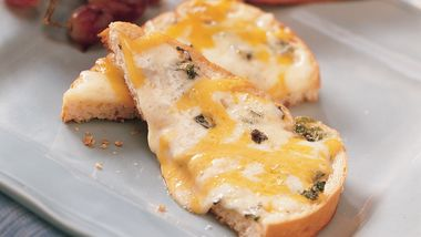 Grilled Double-Cheese and Herb Bread