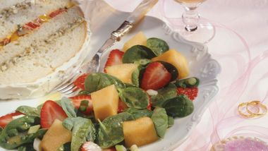 Strawberry-Melon Spinach Salad