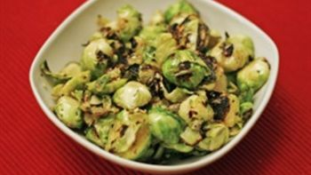 Sauteed Brussels Sprouts with Lemon Vinaigrette