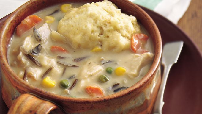 Slow-Cooker Creamy Chicken and Wild Rice Soup