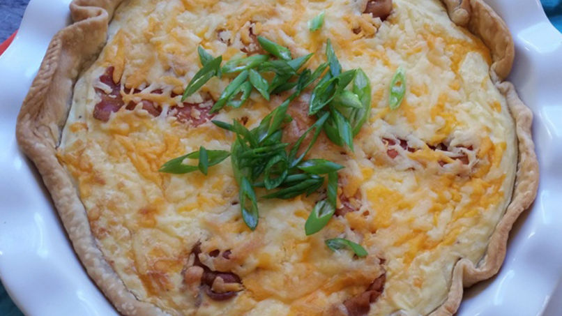 Cheese Pie with Potatoes and Bacon