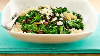 Gluten-Free Black Beans and Kale with Feta Cheese