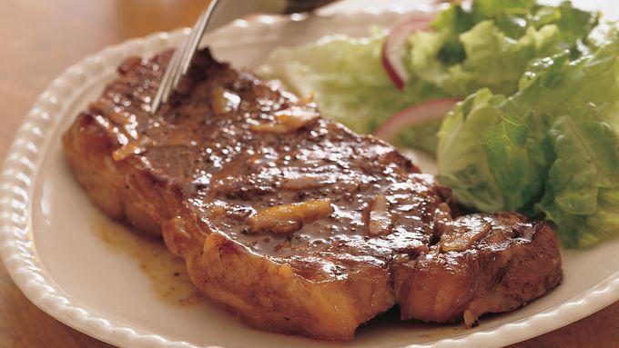 Grilled Glazed Peppered Steak