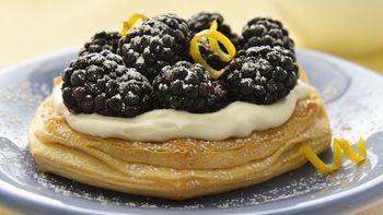 Blackberry Cheesecake Dessert for Two