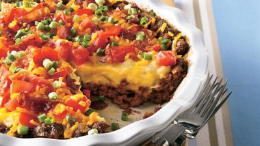 Bacon-Cheeseburger Potato Pie