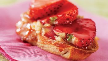 Skinny Strawberry Honey Bruschetta