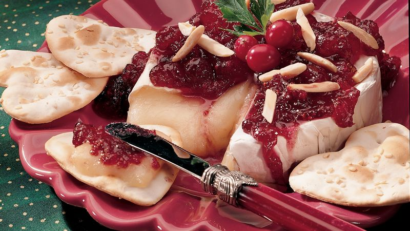 Brie with Cranberry Chutney