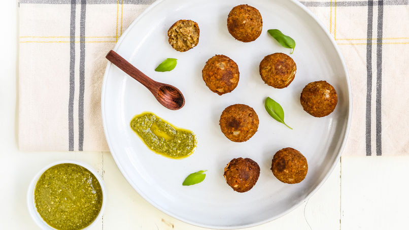 Veggie Nuggets with Lentils and Onions