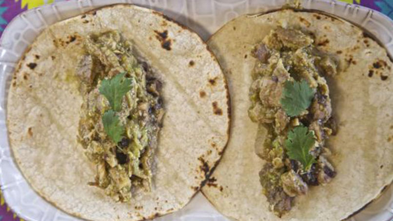 Chile Verde Chicken Tacos