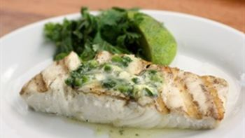 Grilled Halibut with Herbed Lime Butter