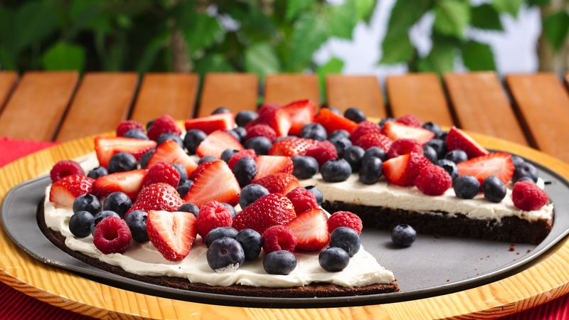 Triple Berry Brownie