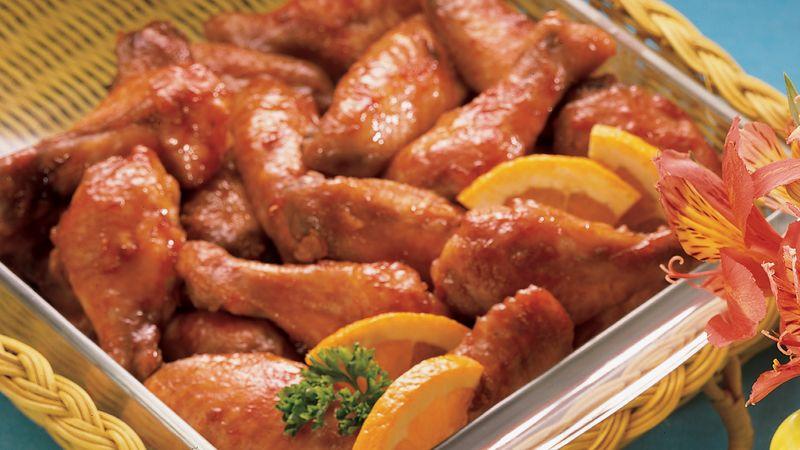 Sweet Orange-Glazed Chicken Wings