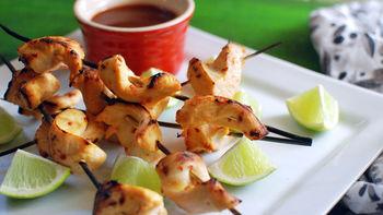Coconut Milk-Lime Marinated Chicken Kabobs