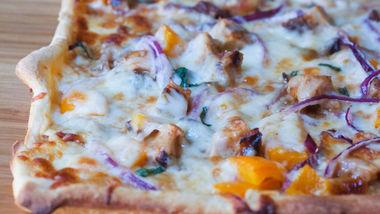 Grilled Bourbon-Chicken Pizza