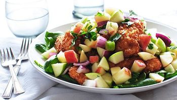 Crispy Chicken with Apple Salad