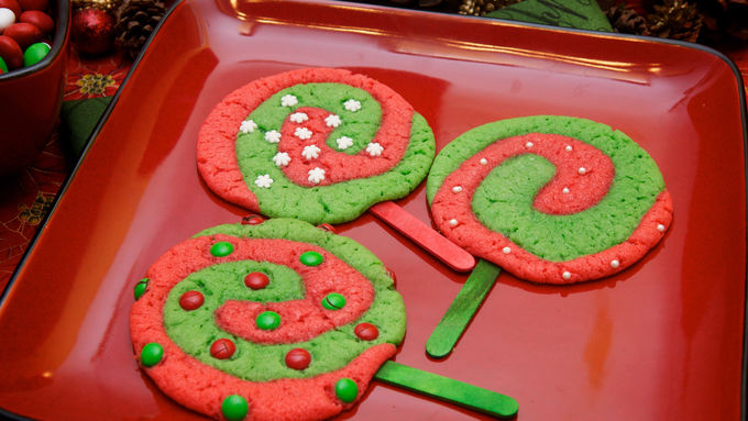 Christmas Lollipop Sugar Cookies