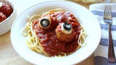 Spooky Spaghetti and Meatballs