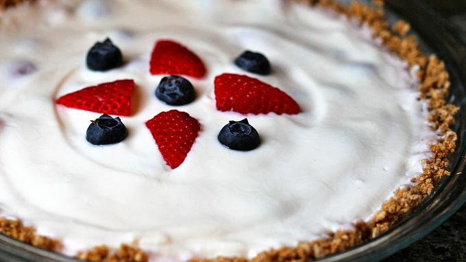 Very Berry Yogurt Pie with Cheerios® Crust