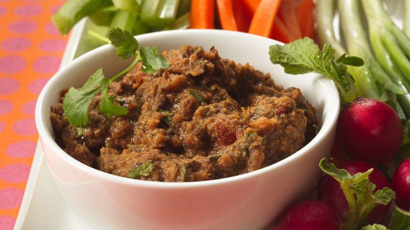 Black Bean Dip with Veggies