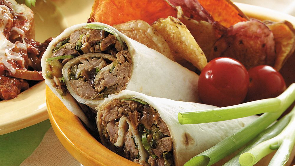 Gingered Pork Wraps