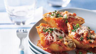 Three-Cheese Beef Pasta Shells
