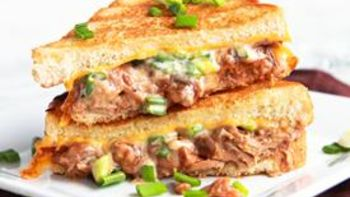 Crockpot Pulled Pork Grilled Cheese
