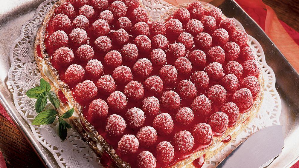 Raspberry Cream Heart