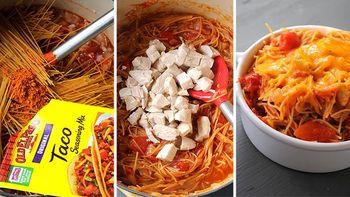 One Pot Mexican Spaghetti