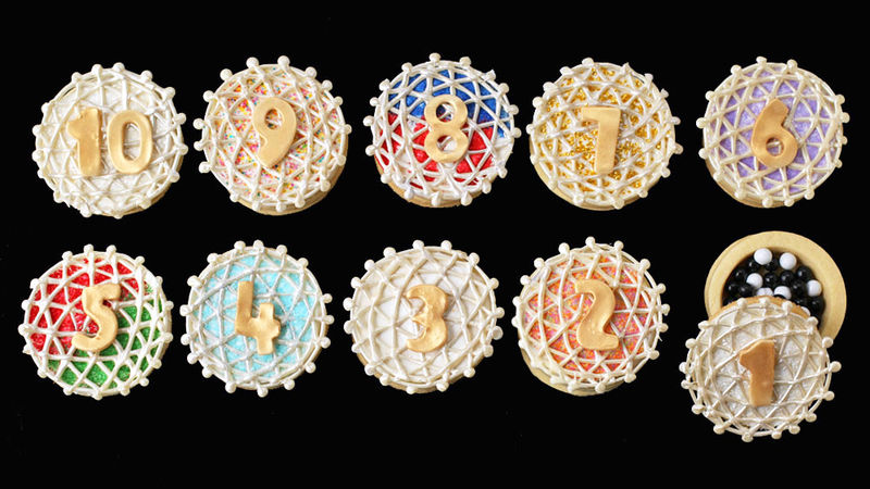 Ball Drop Piñata Cookies
