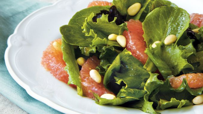 Baby Romaine and Grapefruit Salad