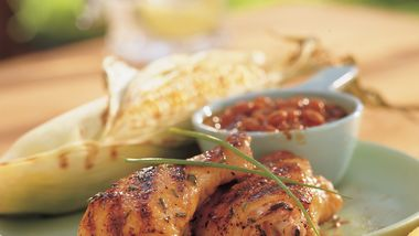 Bourbon-Glazed Grilled Chicken recipe from Betty Crocker