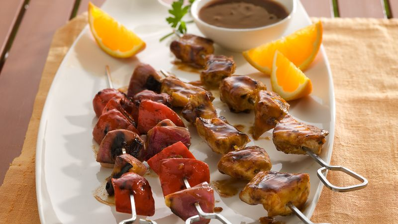 Grilled Barbecue Chicken Kabobs