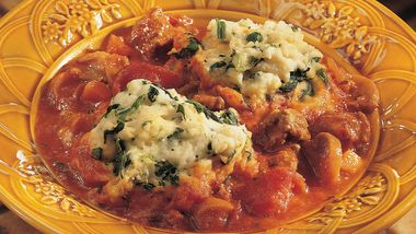 Italian Stew with Spinach Dumplings
