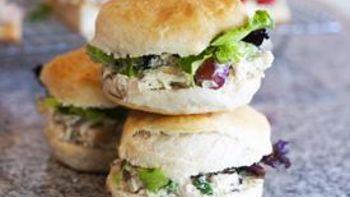 Dainty Chicken Salad Biscuits