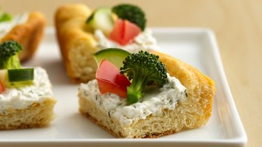 Reduced-Fat Crescent Veggie Pizza