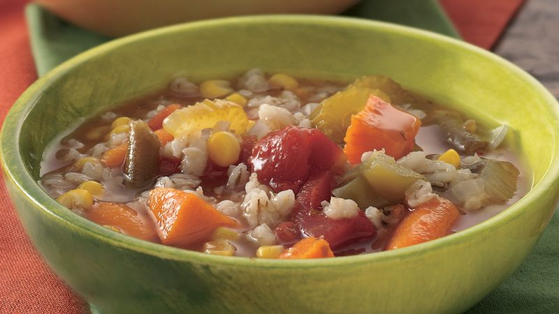 Slow-Cooker Vegetable Soup with Barley