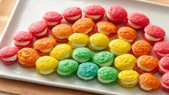 Mini Rainbow Whoopie Pies