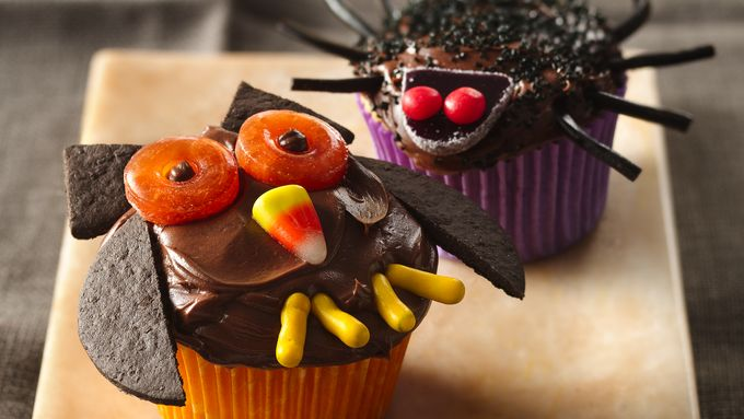 Owl and Spider Cupcakes