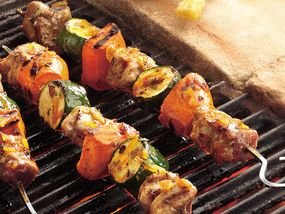 Grilled Pork and Sweet Potato Kabobs