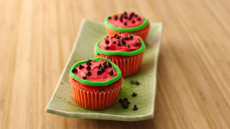 Watermelon Slice Cupcakes