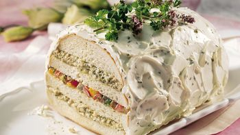 Pesto and Roasted-Vegetable Sandwich Loaf