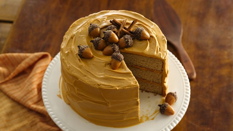 Spice Cake with Dulce de Leche Frosting