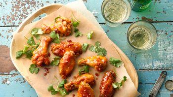 Honey-Baked Sriracha Chicken Wings
