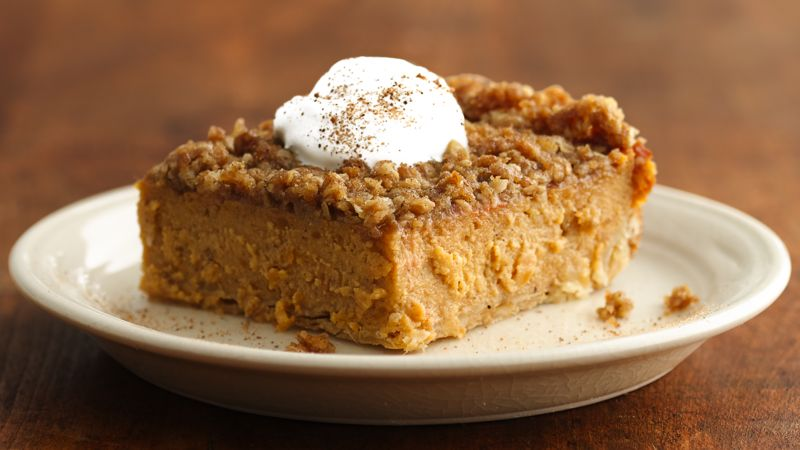 Streusel-Topped Sweet Potato Pie Squares