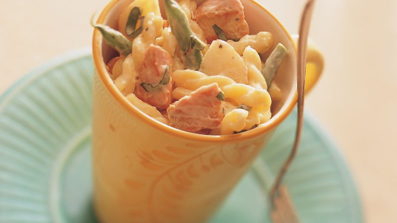 Creamy Salmon with Gemelli and Veggies
