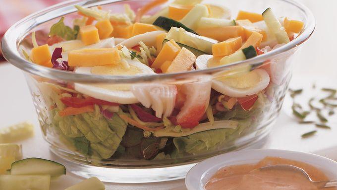 Layered Seafood Chef Salads