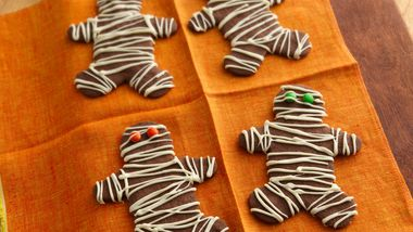 Chocolate Mocha Mummy Cookies