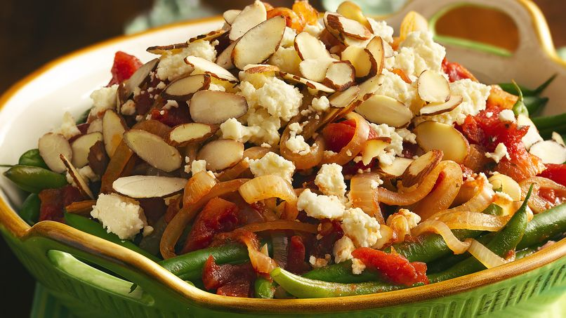 Green Beans with Tomatoes and Queso Fresco