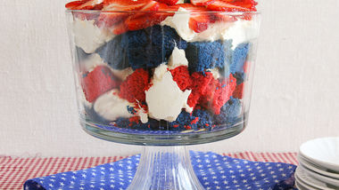 Red, White and Blue Trifle